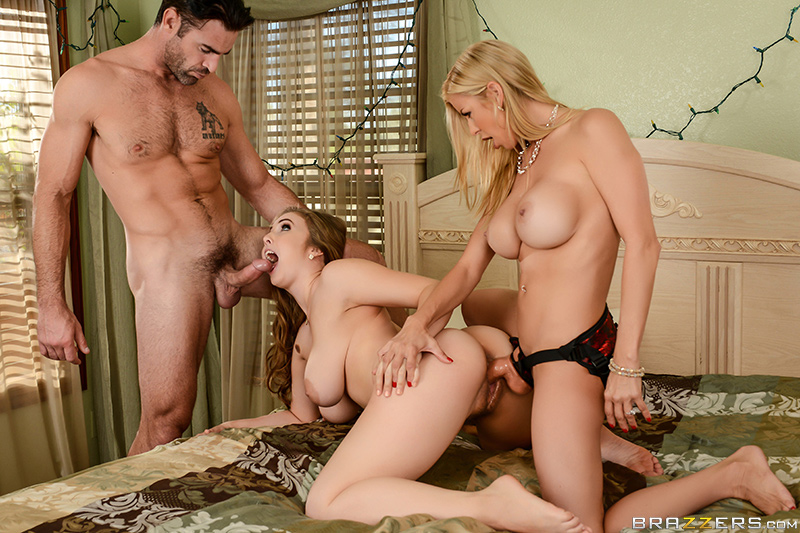 Lena paul gets it from charles dera and alexis fawx with a strapon