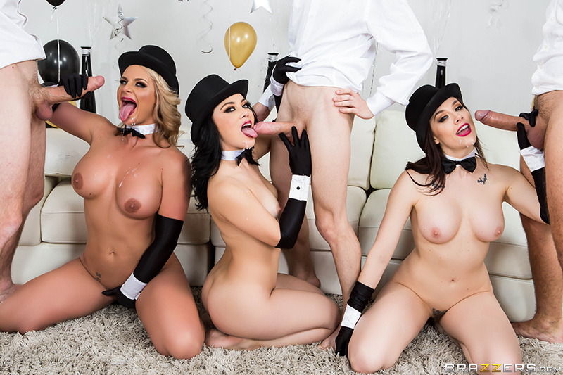 New years eve anal party porn