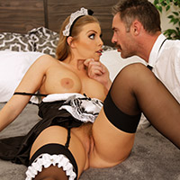 Cute screaming cock sucking maid