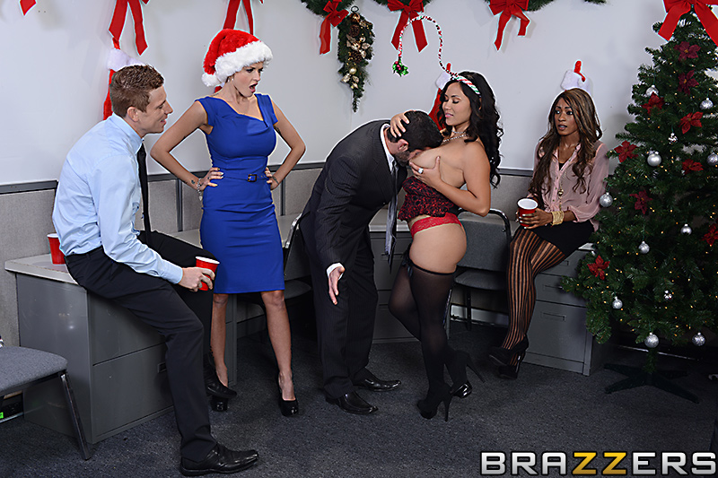 Wife fucked at company christmas party