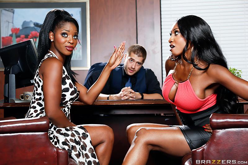 Threesome squirting black
