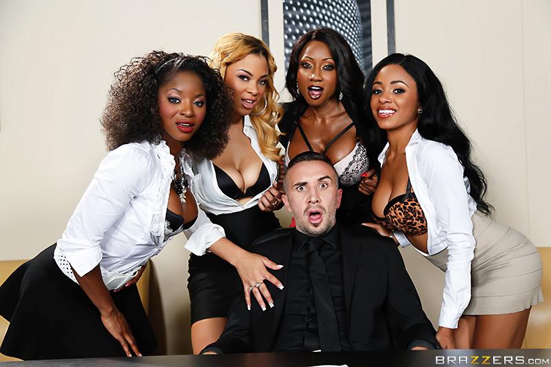 Ebony Lesbians Rubbing Pussy